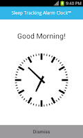 Screenshot of Sleep Tracking Alarm Clock