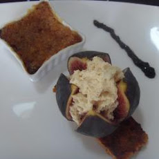 Foie Gras Creme Brulee With Figs