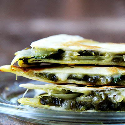 Roasted Poblano, Onion & Jack Quesadilla