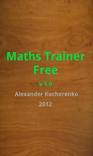 Maths Trainer Free - screenshot