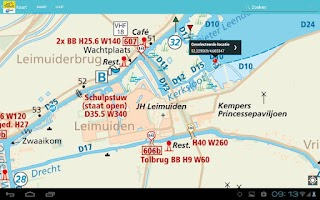 Screenshot of ANWB Waterkaarten
