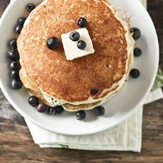 Pancakes with Blueberry Maple Syrup!
