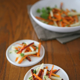 Carrot and Kohlrabi Salad with Harissa