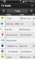 Screenshot of Optus TV with Fetch