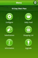 Screenshot of 10 Day Easy Diet app