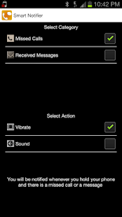 Touch based-Smart Notifier - screenshot