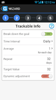 Screenshot of GoalTracker