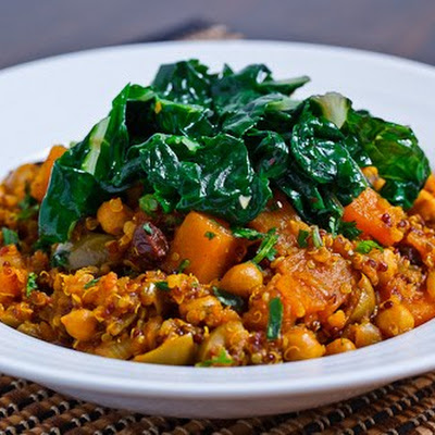 Moroccan Butternut Squash, Chickpea and Quinoa Tagine