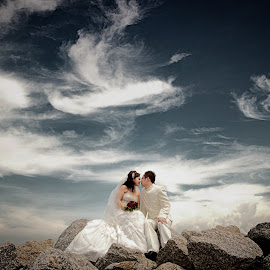 Romance Sky by Tim Chong - Wedding Bride & Groom ( romance )