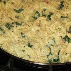 Spinach and Bacon Noodle Toss