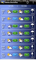 Screenshot of Météo Bruxelles