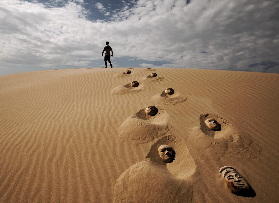 Sands of time by Miki Meir Levi - Artistic Objects Signs