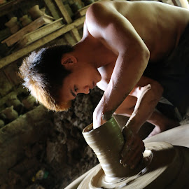 by Jann Chiong - People Portraits of Men ( water, clay, earth, people )