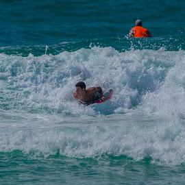 Boogie Boarding by Benjamin Sr. - Sports & Fitness Watersports ( pensacola, summer, boogie boarding, fun, beach, athletic )