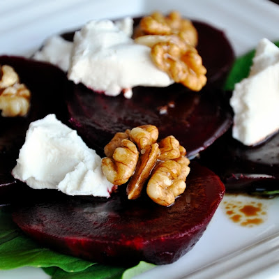 Beet & Goat Cheese Salad with Candied Walnuts