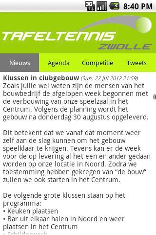 Tafeltennis Zwolle