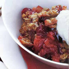 Cranberry-Apple Crisp with Oatmeal Streusel Topping