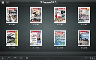Screenshot of L'Humanité - Le journal