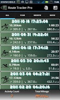 Screenshot of Route Tracker Pro