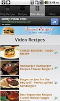 Screenshot of Burger Recipes!