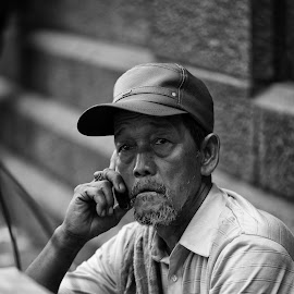 a phone call... by Yasin Yasin - People Street & Candids (  )