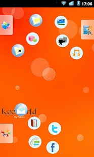 keeworld Theme: Happy Orange - screenshot