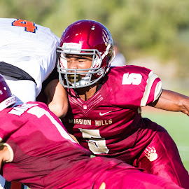 HIT by Michael Cazares - Sports & Fitness American and Canadian football ( high school, cif, football, mission hils )