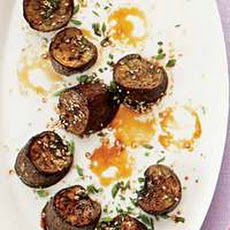 Glazed Eggplant with Sesame Seeds and Chives