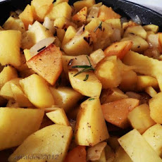 Two Potato Rosemary Saute