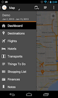 Screenshot of myTrip - Travel Organizer