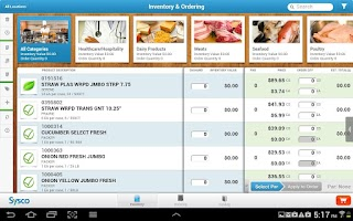 Screenshot of Sysco Counts