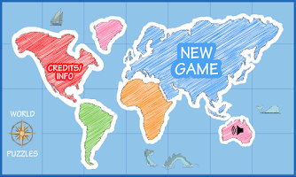 Screenshot of World Map Puzzle