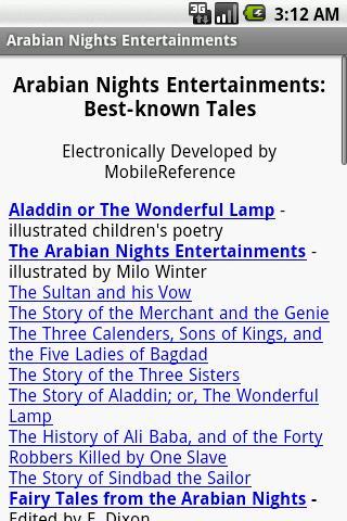 The Arabian Nights Entertainme
