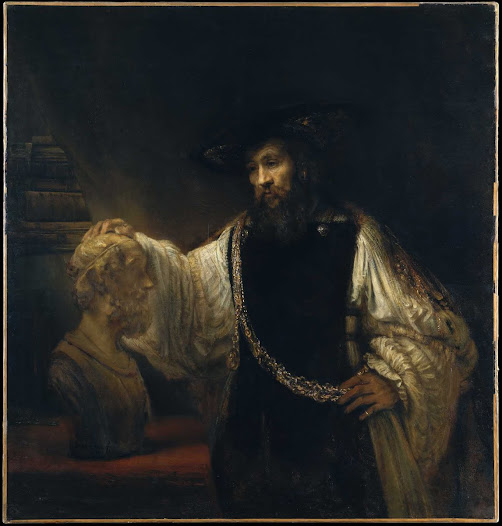 Rembrandt van Rijn, Aristotele con busto d'Omero