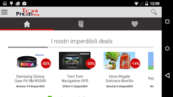 Screenshot of TrovaPrezzi prezzi e shopping