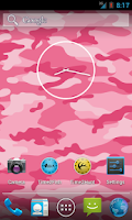 Screenshot of Pink Camo Live Wallpaper Free