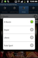 Screenshot of Diarios Deportivos