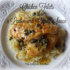 Chicken Filets with a Lemon and Caper Sauce