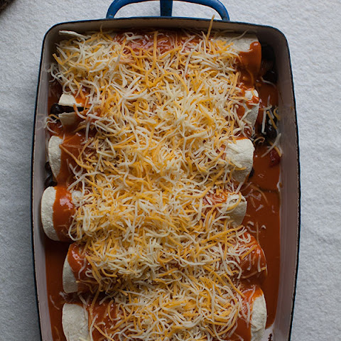 Delicata Squash and Black Bean Enchiladas