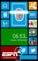 Screenshot of Fingerprint Lock Windows 8