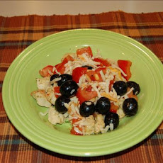 Pan Grilled Chicken With Tomatoes and Olives
