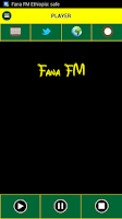 Screenshot of Fana FM Ethiopia
