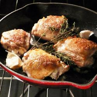 Pan-roasted Chicken Thighs