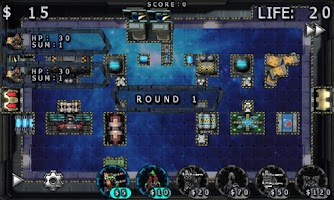 Screenshot of Galaxy Wars TD