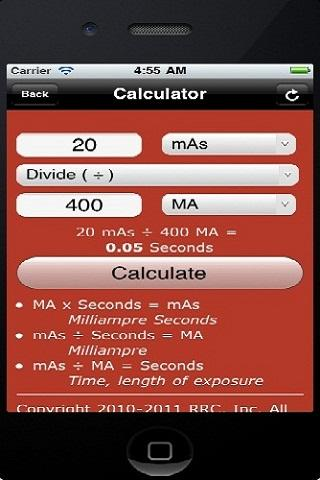 Radiographic Calculator