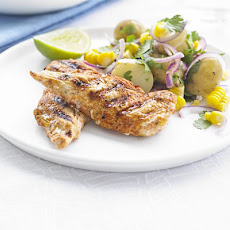Smoky Chicken With Warm Corn & Potato Salad
