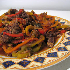 Stir-Fried Shredded Beef With Peppers