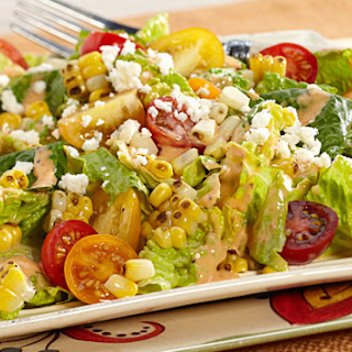 Mixed Greens with Charred Corn
