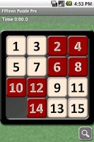 Screenshot of Fifteen Puzzle Pro