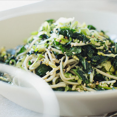 KALE + SLIVERED BRUSSELS SPROUT SOBA NOODLES